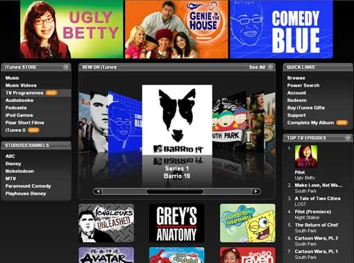 iTunes Video Store - UK