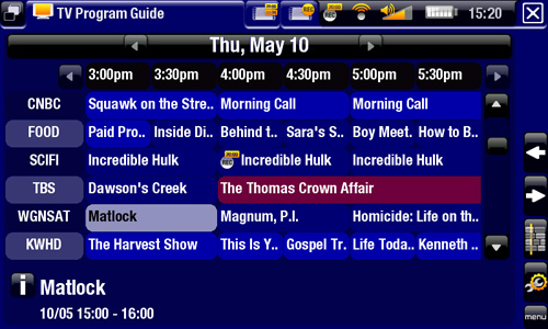 ARCHOS TV+ - TV Program Guide