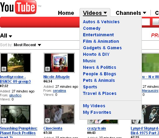 YouTube - Browse