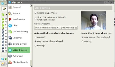 Skype Linux - Video