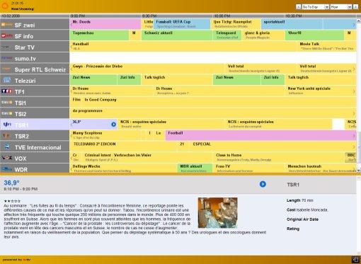 Zattoo: guide électronique des programmes