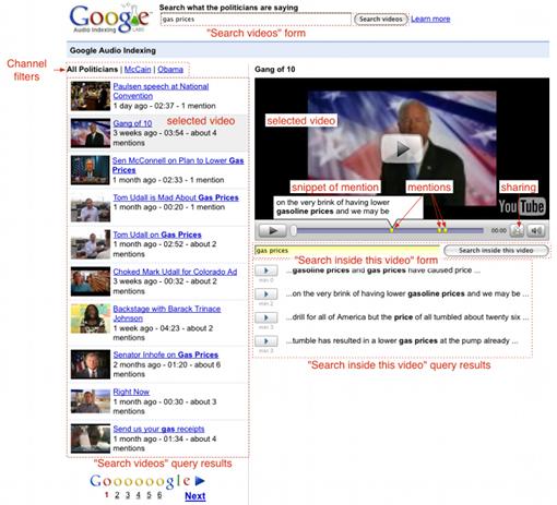 Google Audio Indexing