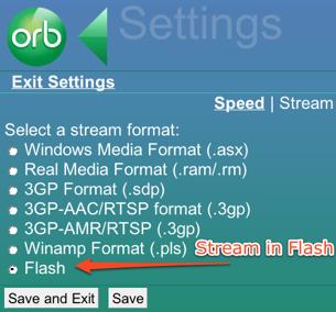 Orb - Stream in Flash