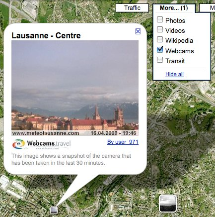 Google Maps Webcams
