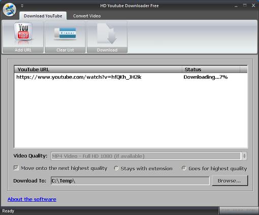HD YouTube Downloader